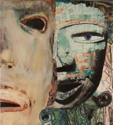 Masks--Who Needs Them? watercolor painting by AER