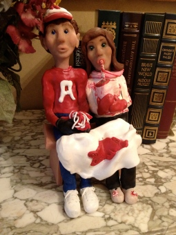 "Polymer Clay--""At the Game with Bill"""